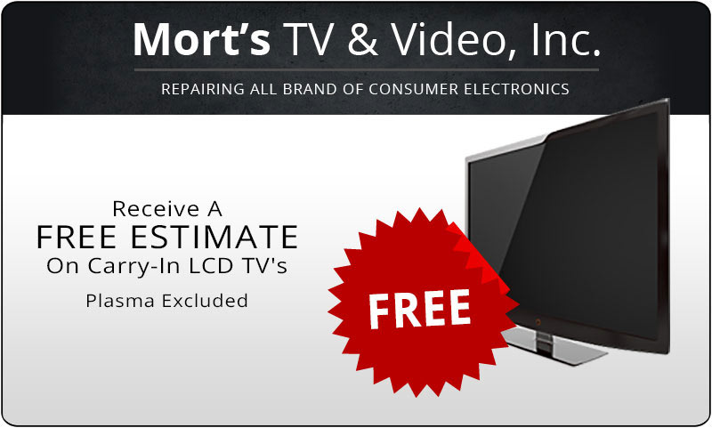 Free Estimate on Carry-In LCD TVs